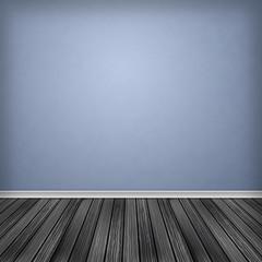 Empty room, interior with wallpaper.