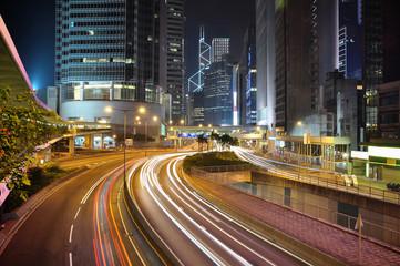 Hongkong financial district at night