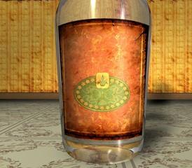 3D Retroflasche - Sanftes Etikett
