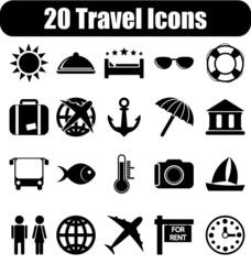 20 travel icons