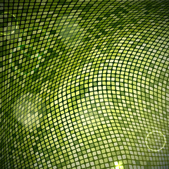 Abstract green mosaic background