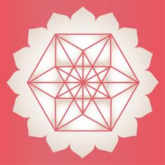 Star Tetrahedron lotus print