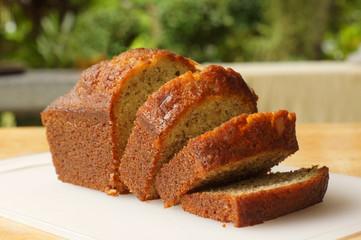 Fototapeten Brot banana cake