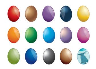 Set of multicolor Easter egg