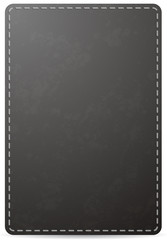 Vector black notebook cover page