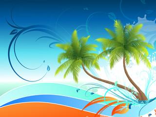 Floral Hintergrund Palmen