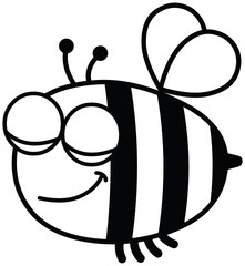 Bee contented-black and white