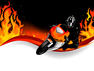 Wall Mural - Motorcycle