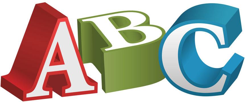 ABC font alphabet teaching letters