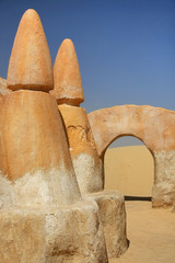 Movie scenery for Star Wars movie in Tunisia