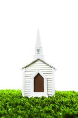 Wedding Chapel on white background