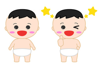 赤ちゃんイラスト 笑顔