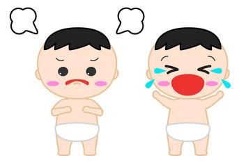 赤ちゃんイラスト 泣く 怒る