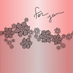 Lace floral background