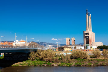 View of power station in Sand Adria de Besos