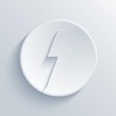 Vector light circle icon. Eps10
