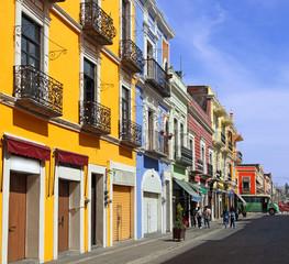 Foto auf AluDibond Mexiko rue de Puebla