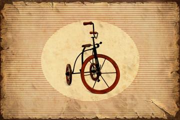 Fond de hotte en verre imprimé Affiche vintage Retroplakat - Dreirad