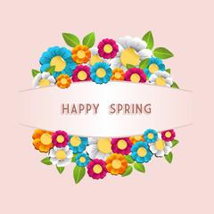Happy spring flower card