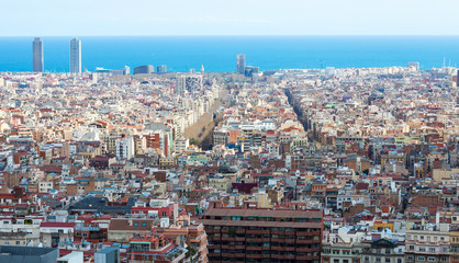 old residence district in Barcelona