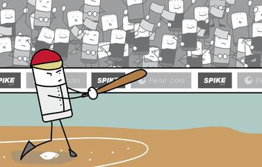Joueur de baseball batteur