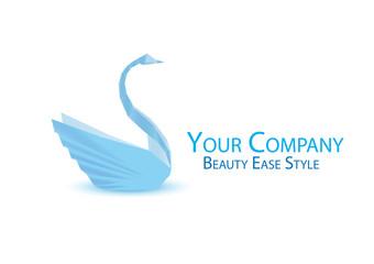 Beauty salon logo, wedding logo, logo origami