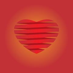 Heart origami Background illustration