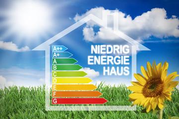 Energieeffizienzklassen mit Niedrigenergiehaus