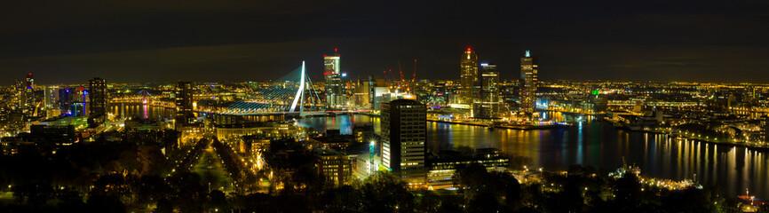 Deurstickers Rotterdam rotterdam at night