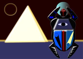 Escarabajo y Pirámides