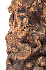 Chinese Dragon at the base of a statue