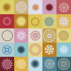 Great vector collection of round elements
