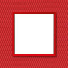 Cadre Rouge Tissu