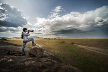 Fotografando le distese africane