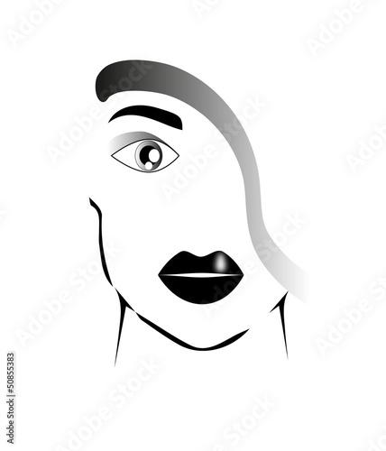Volto Di Donna Stilizzato Stock Image And Royalty Free Vector Files