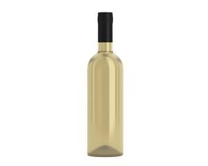 Weinflasche Beige Kappe schwarz