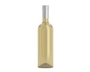 Weinflasche Beige Kappe weiß