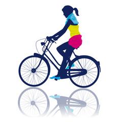 Femme cycliste
