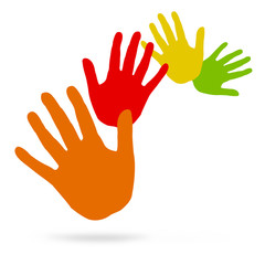 mani in movimento espressione di allegria