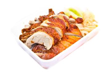 Roasted duck, smoked honey Tasting in take away box