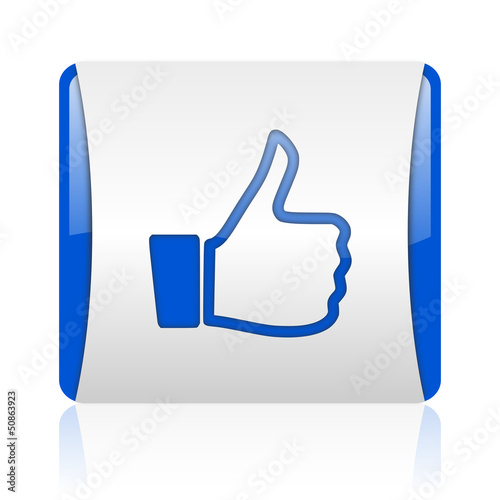 Thumb Up Blue Square Web Glossy Icon Stock Photo And Royalty Free