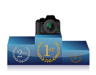 camera winners podium
