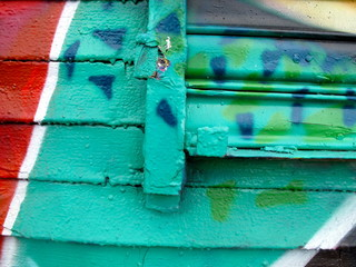 Painted Wall: Abstract Pattern in Detail of Graffit