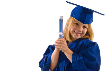 Young graduate holding a diploma