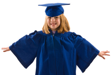 Young graduate in cap and gown