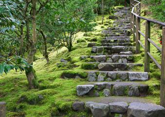 Foto op Plexiglas Trappen Asian Garden Stone staircase