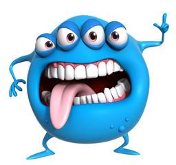 Recess Fitting Sweet Monsters 3d cartoon blue monster