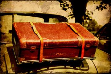 Retroplakat - Koffer