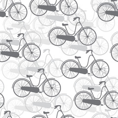 vector seamless pattern bicycles