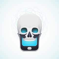 skull mobile phone
